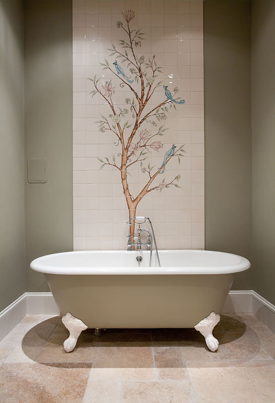 BIRD AND BRANCH TILE DESIGN BY E J TILE DESIGN