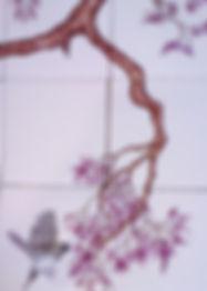 BIRDS ON BRANCHES BY E J TILE DESIGN