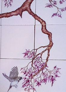 BIRDS ON BRANCHES BY E J TILE DESIGN