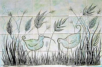 BLUE BIRD DESIGN BY E J TILE DESIGN