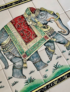 Rajasthani elephant design bespoke handm