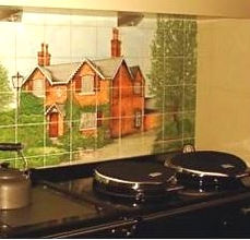 Brick House Tiles in Kitchen Situ