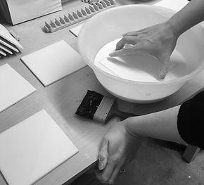Hand Glazing Ceramic Tiles