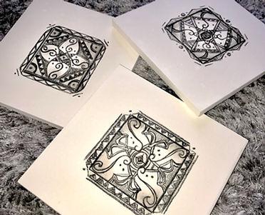 Black & white Designs, aztec designs, .j