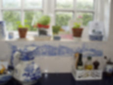 Delft House Tiles in Kitchen Situ