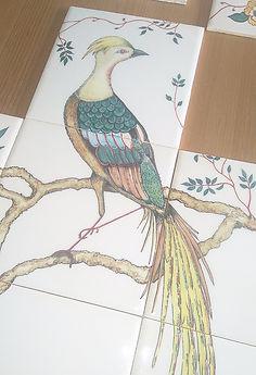 Bird Painted on Tiles