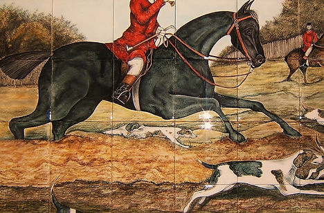 HORSE PAINTED ON TILES BY E J TILE DESIGN