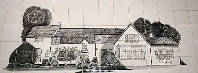 House Painted on Ceramic Tiles
