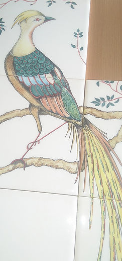 BIRD OF PARADISE EXOTIC DESIGN KITCHEN T