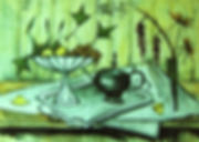 BERNARD BUFFET HANDPAINTED ON TILES BY E J TILE DESIGN