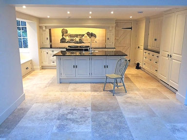 House Painted on Ceramic Tiles in Kitchen Situ