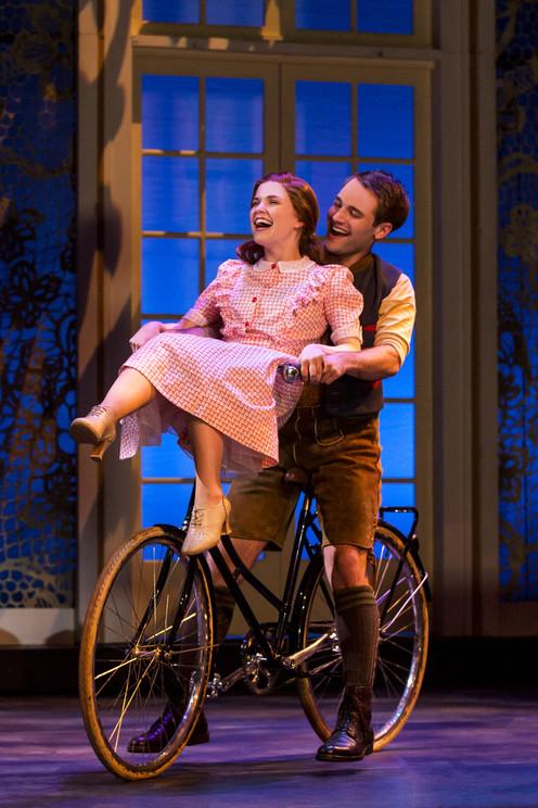 Keslie Ward as Liesl and Chad P. Campbel