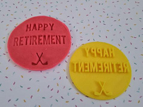 Happy Retirement Fondant / Cookie Stamp