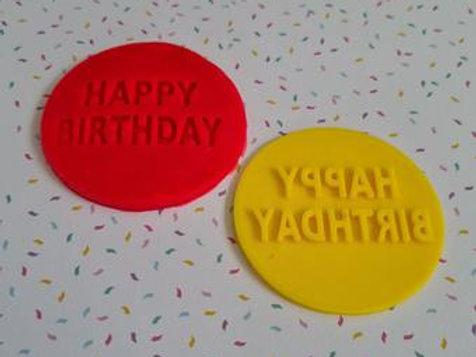 Happy Birthday Fondant / Cookie Stamp
