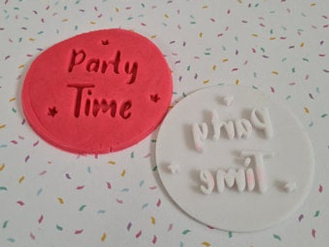 Party Time Fondant / Cookie Stamp