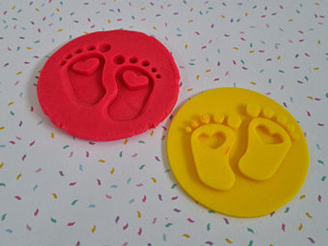 Baby Shower Baby Feet Fondant / Cookie Stamp