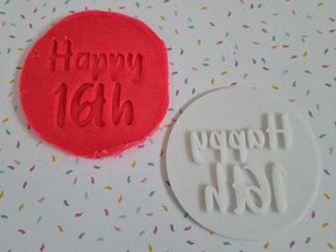 Happy 16th Fondant / Cookie Stamp