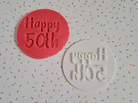 Happy 50th Fondant / Cookie Stamp