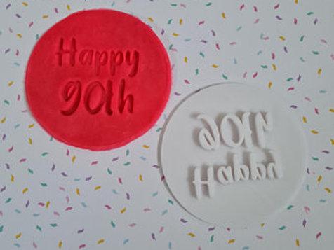 Happy 90th Fondant / Cookie Stamp