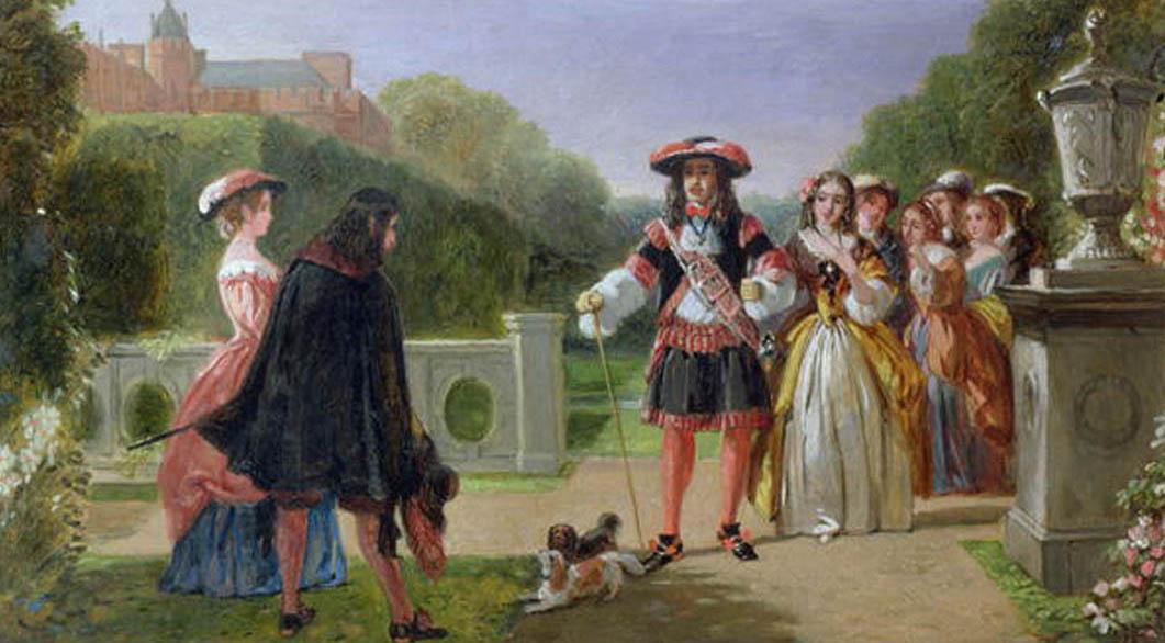 Чарльз II и Кинг Чарльз Спаниели