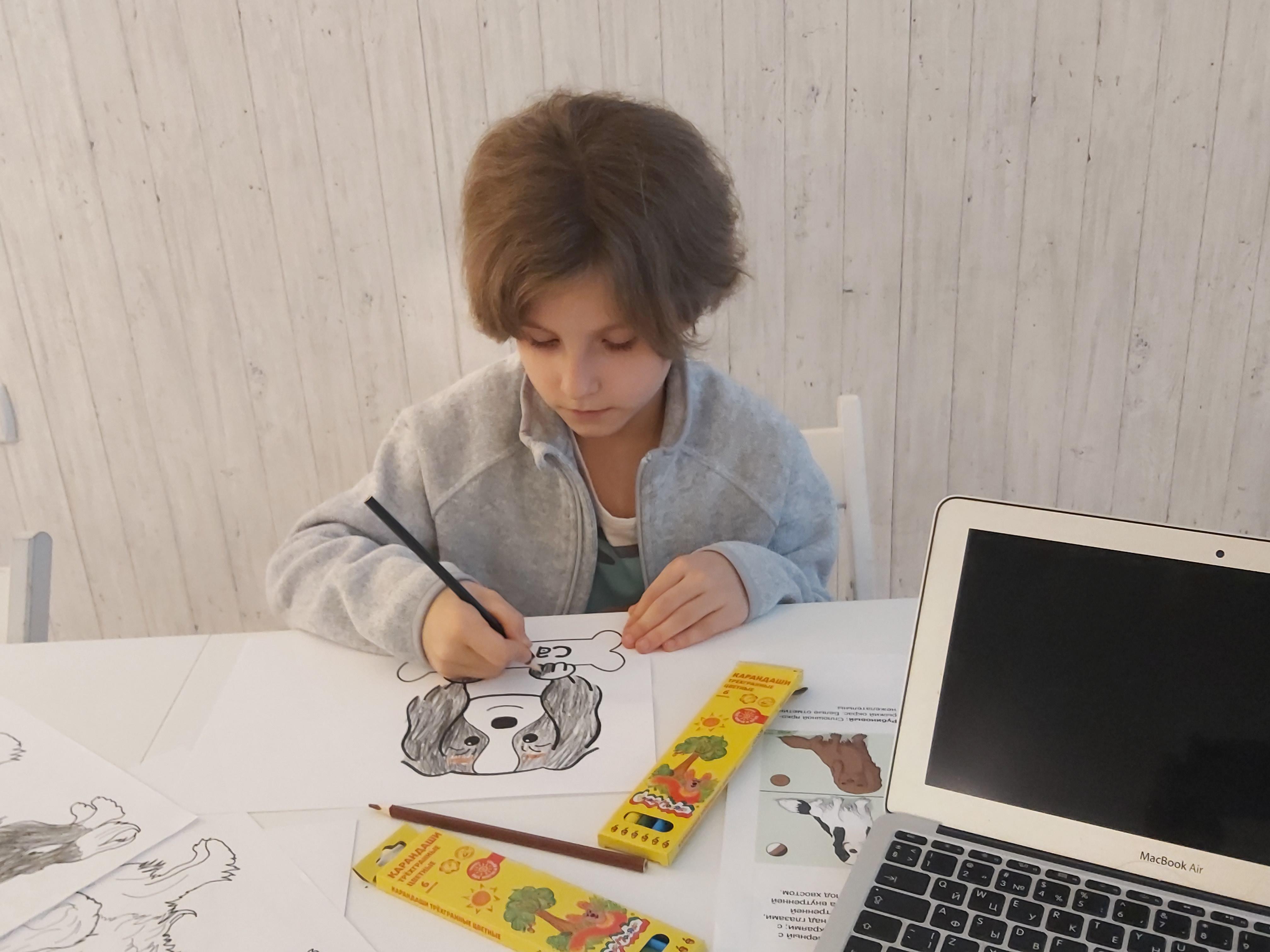 Малыши рисовали своих любимых собак
