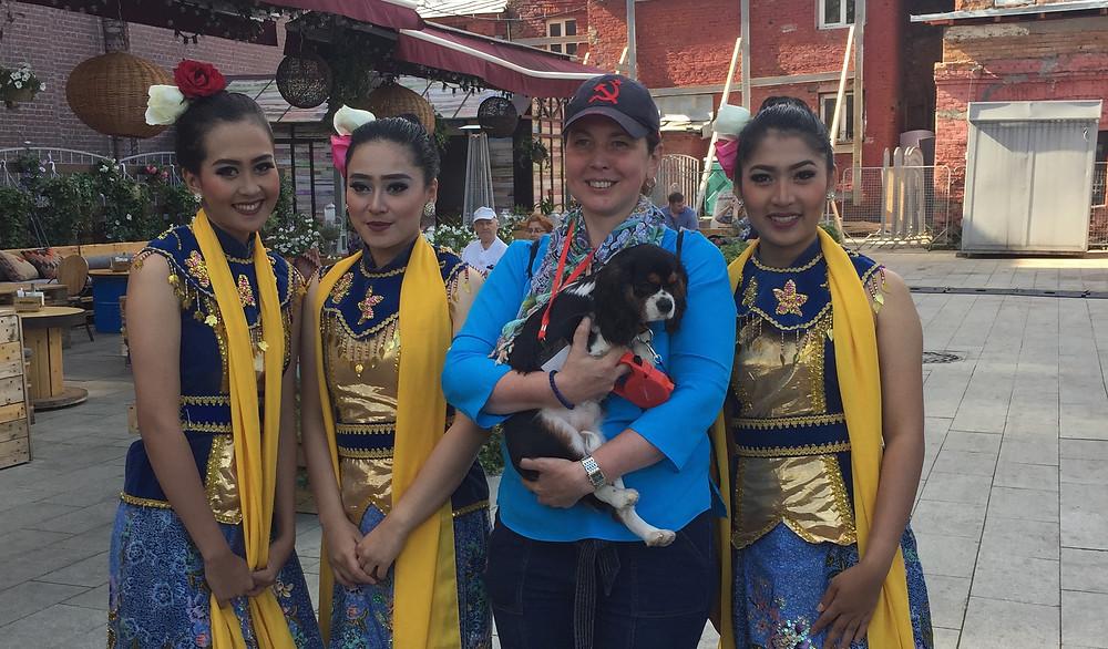 Кавалер Кинг Чарльз Спаниель на Фестивале Индонезии