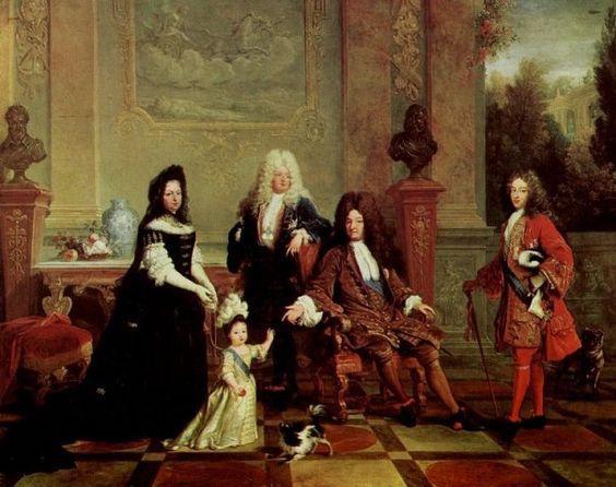 Людовик 14 с Кавалером 1710 год