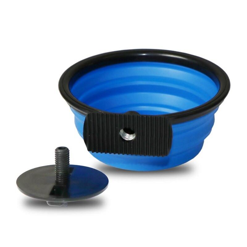 Дорожная миска для собак. Можно складывать и крепить к переноске.