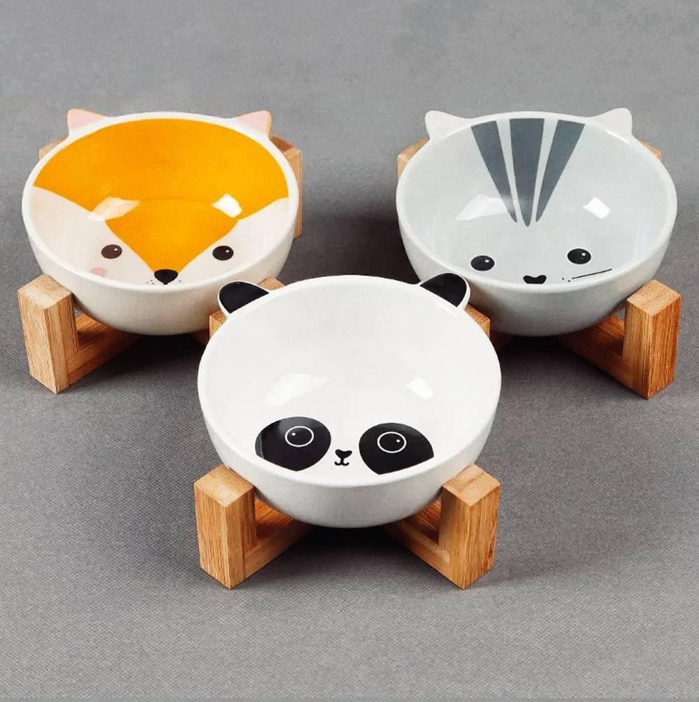 Керамические миски для собак на подставке