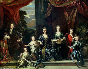 Семья Герцога Мальборо с Кавалерами