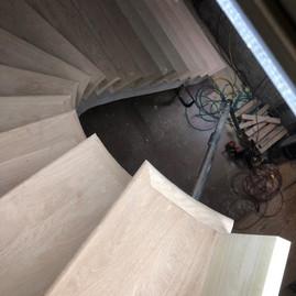 Custom Radius Stairs, Curved Staircase,