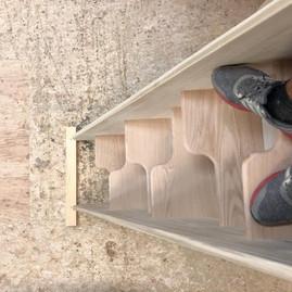 Custom Alternating Staircase, Oak & Popl