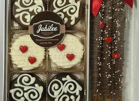 Chocolate Covered Oreos & Pretzels Gift Box