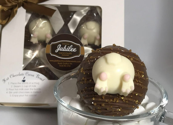 Hot Chocolate Cocoa Bombs Gift Box of Four Bunny Bums