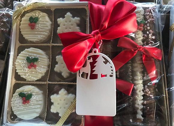 Holiday Oreo/Pretzel Gift Basket
