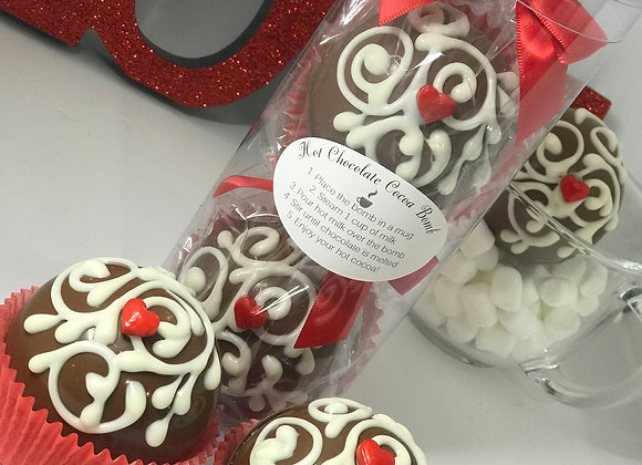 Valentine's Day Cocoa Bombs Set of Two