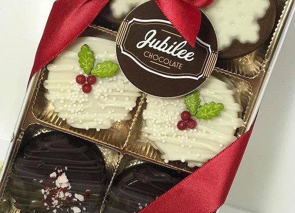 Holiday Gift Box of 6 Chocolate Oreos
