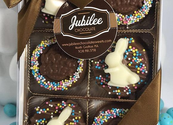 Holiday Chocolate Covered Half Dozen/Sprinkles