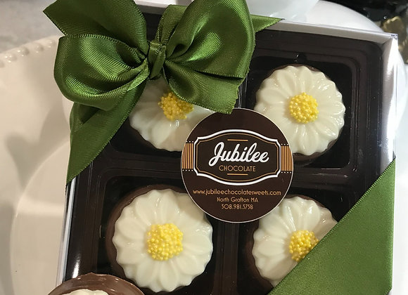 Daisy Chocolate Covered Oreo Gift Box of Four
