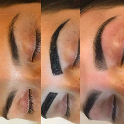 • Brow Sculpt & Colour • _Maximise the width & thickness of your eyebrows by tinting over & complete