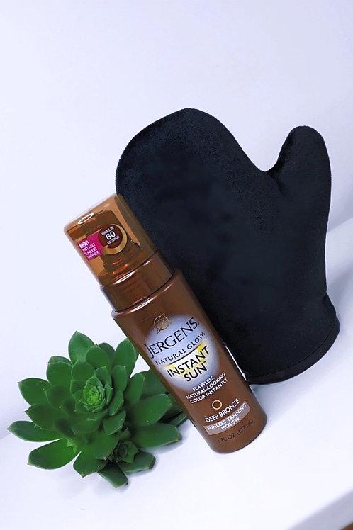 Jergens Natural Glow Tanning Mousse + BB Velvet Tanning Mitt Pack