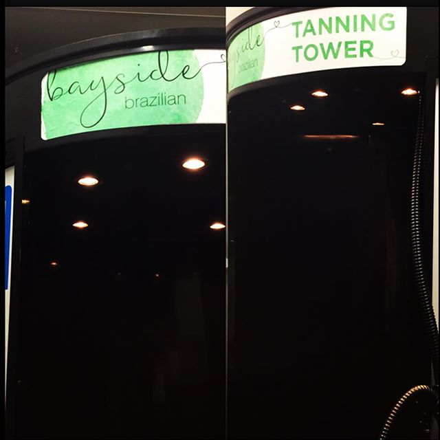 Bayside Brazilians Tanning Tower is nearly complete 💚 Only the outside signage to go & the first pr