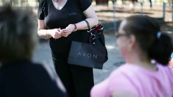 Avon lady delivering