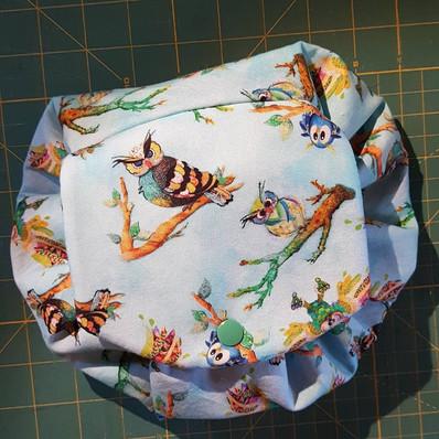 Owl Drawstring Make-Up Bag
