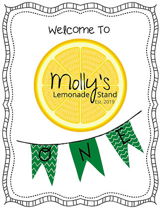 Personalized Lemonade Sign