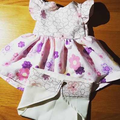 Dolls Dress with Matching Diaper