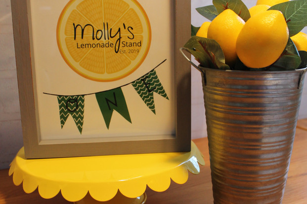 Personalized Lemonade Stand sign