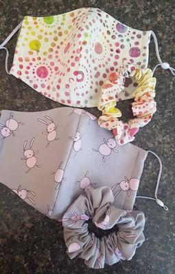 Matching Masks & Scrunchies
