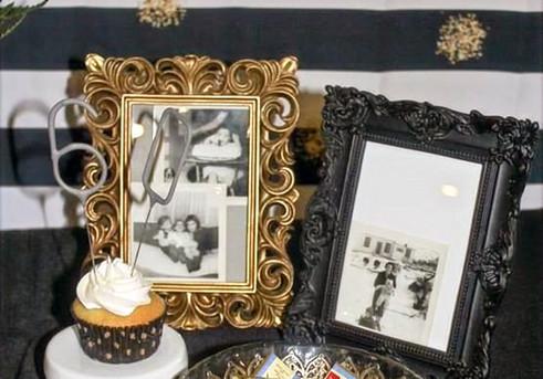 Gold & Black Picture Frames