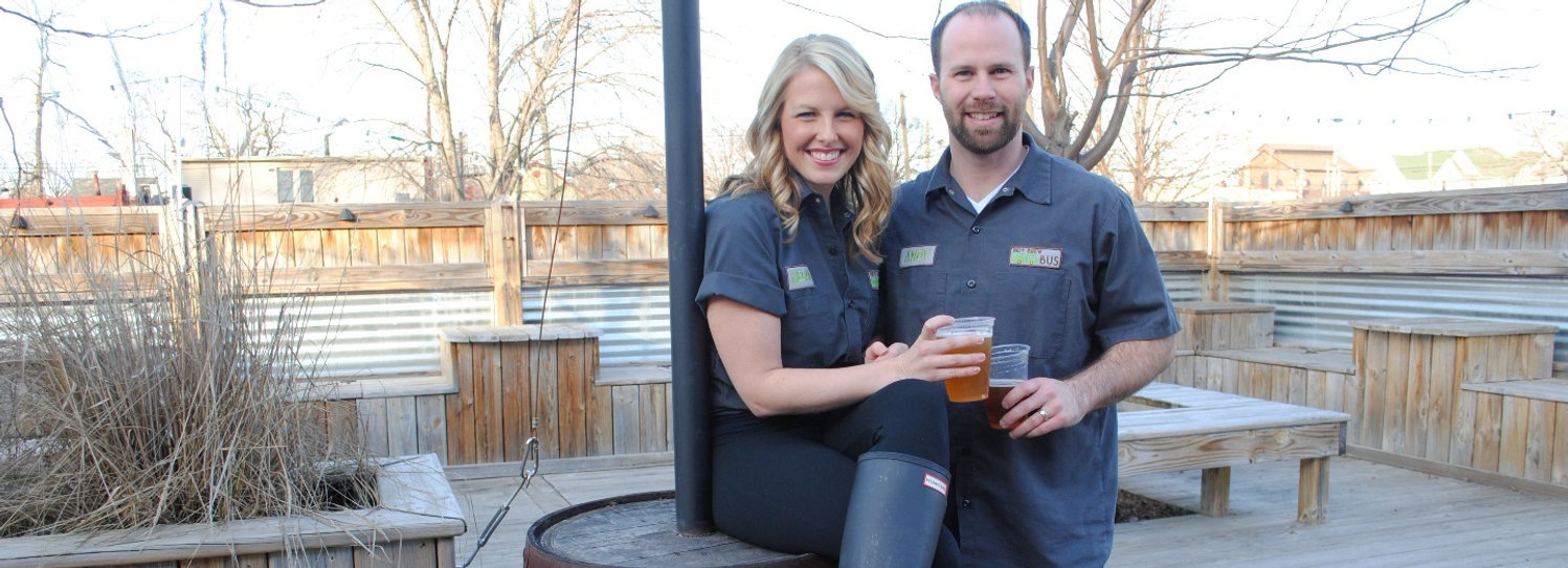 Indy Brew Bus owners, Megan and Andy Bulla